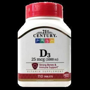 Витамин D3, 21st Century - 110 таб