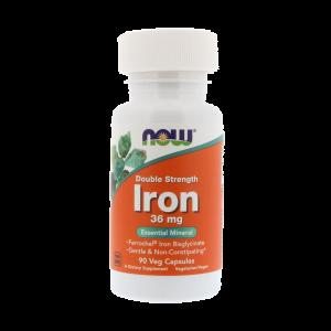 Железо NOW Iron 36 мг - 90 капсул